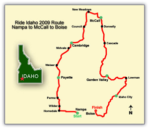 2009 route map
